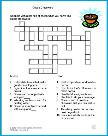 picture relating to Easy Crossword Puzzles Printable identified as Printable Simple Crossword Puzzles