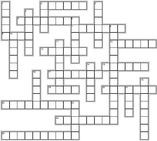Printable Bible Crossword Puzzle