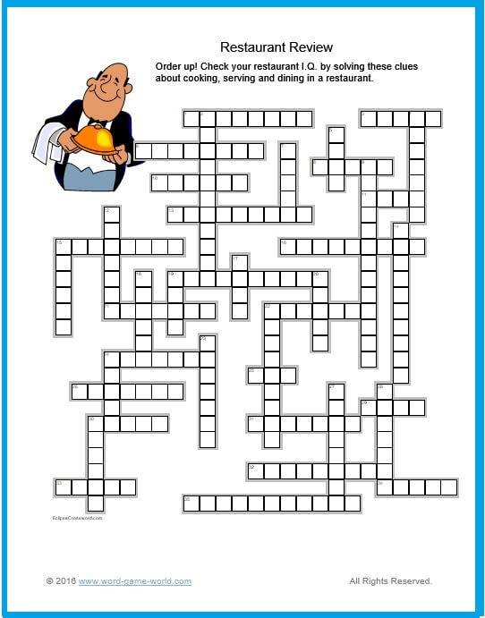 Solve Free Online Crossword Puzzles Here