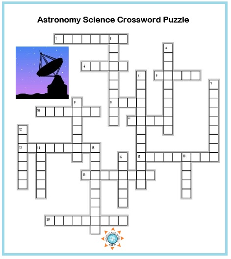 picture about Science Crossword Puzzles Printable identified as Science Crossword Puzzles : Astronomy Phrases