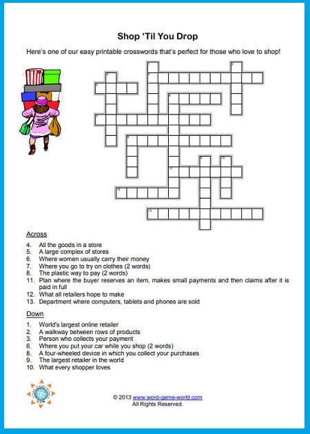 Easy Printable Crosswords You Re Going To Love