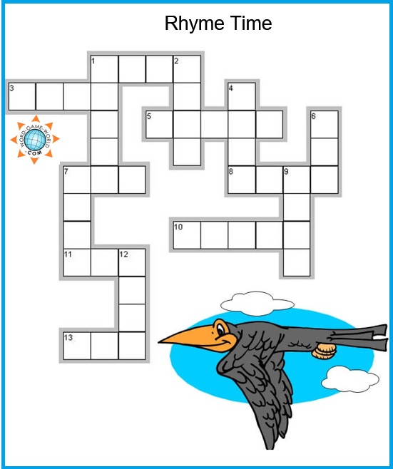 graphic about Simple Crossword Puzzles Printable called Very simple Crossword Puzzles for Little ones