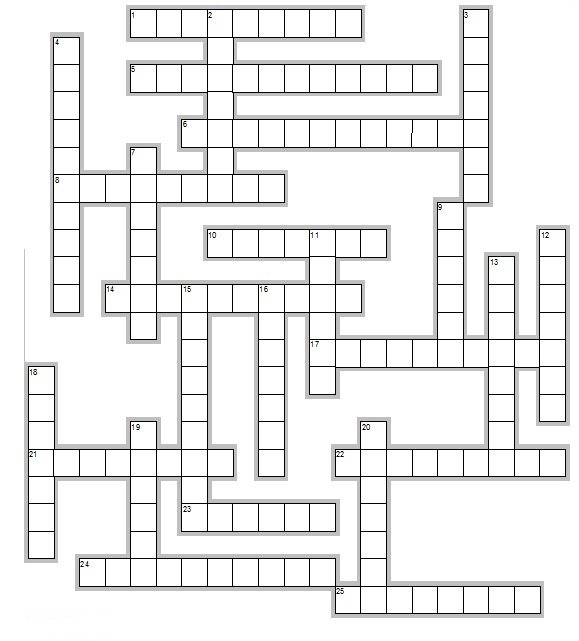 This is a picture of Printable Spanish Crossword Puzzle in middle school