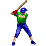 baseball player, ready to swing a bat