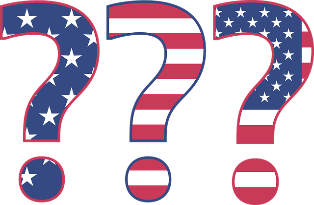 Patriotic question marks