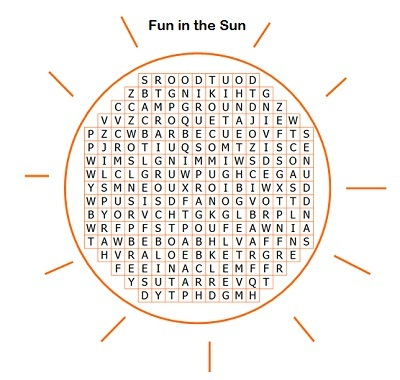search word puzzle diagram