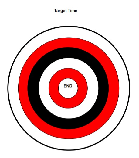 Red, black and white target