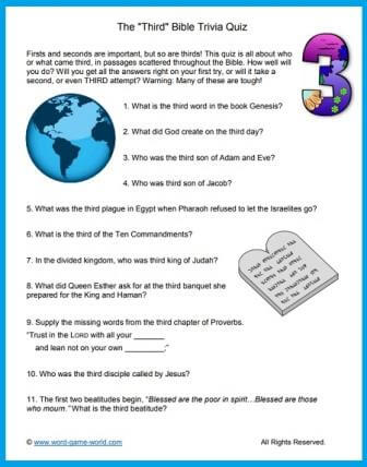 image regarding Printable Bible Trivia Games titled Printable Bible Trivia Queries and Remedies