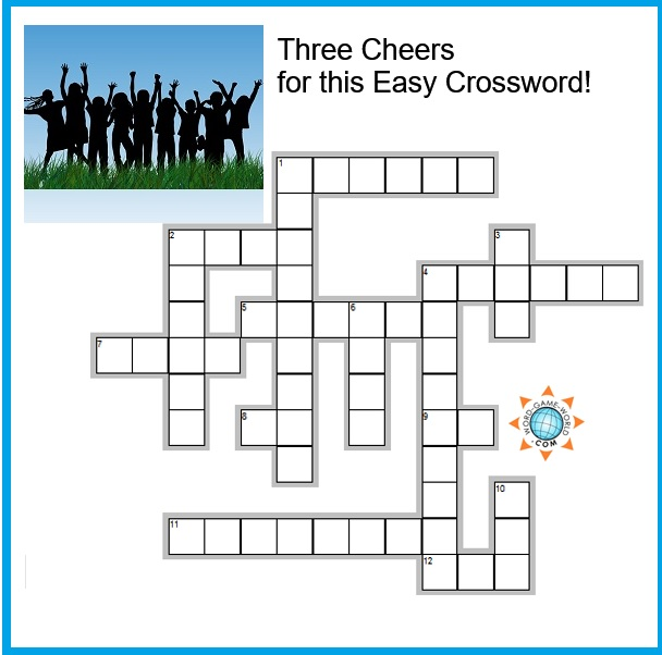 Three cheers easy crossword grid