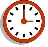 clock face that reads 3:00