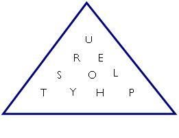 triangular word game