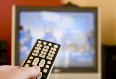 TV and remote, from one our TV crossword puzzles www.word-game-world-com