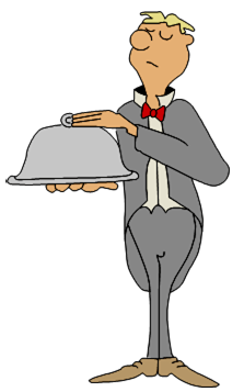 cartooy distinguished waiter