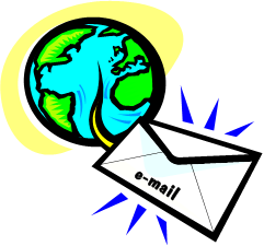 email traveling around the globe