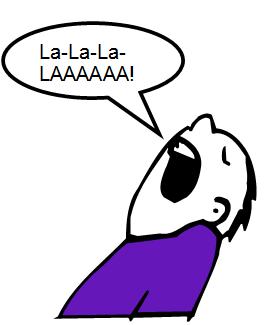 guy in a purple shirt singing La-la-la-la