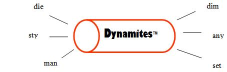 Dynamite word anagram example