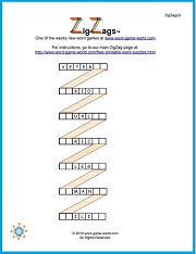 ZigZag Word Puzzles from www.word-game-world.com